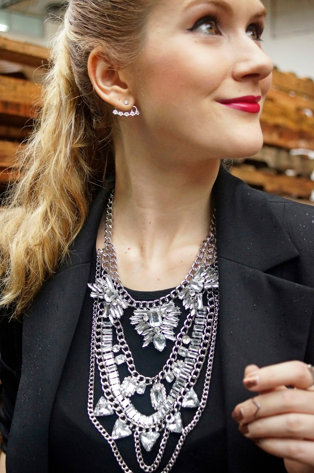 This statement necklace from Happiness Boutique is the perfect touch of glam!