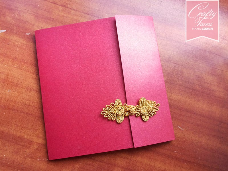 Wedding Card Malaysia with Chinese Button