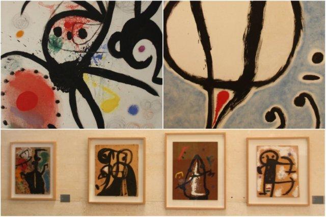 Cuadros en la Fundacion Pilar y Joan Miro en Mallorca