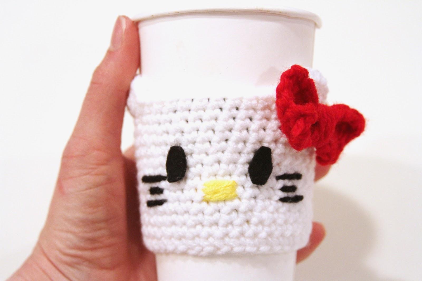 fancy that notion  guest post  hello kitty coffee cozy pattern