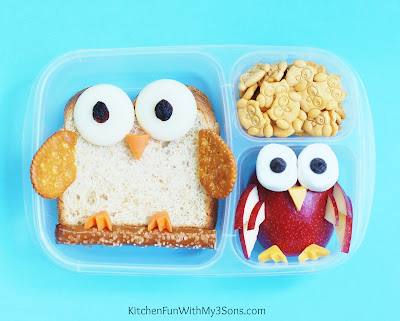 Owl Back to School Bento Lunch from KitchenFunWithMy3Sons.com