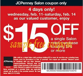 Jcp salon coupons discount code