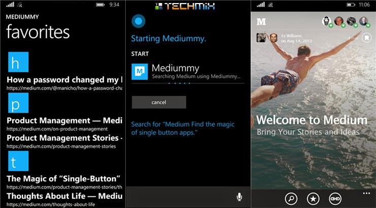 Mediummy- Medium.com Reader app for Windowsphone with Cortana Integration
