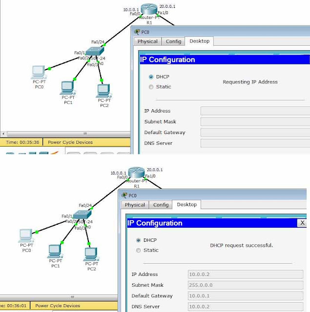 How to configure dhcp in cisco router using packet tracer for Cisco show pool dhcp