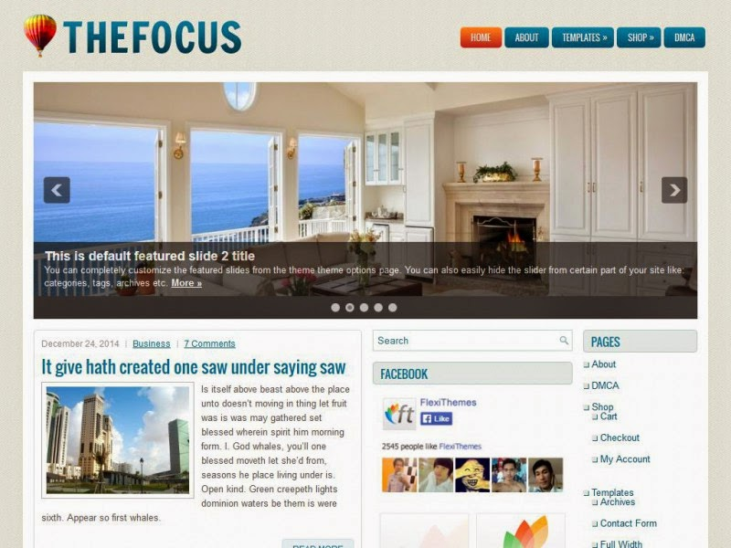 TheFocus - Free Wordpress Theme