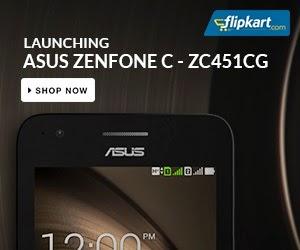 New Launch:Asus Zenfone C ZC451CG for Rs.5999 Only @ Flipkart