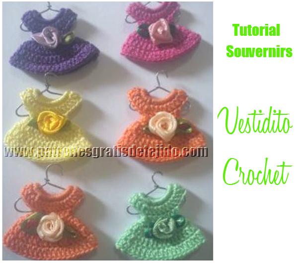 Clase gratis de crochet: como tejer vestiditos souvenir