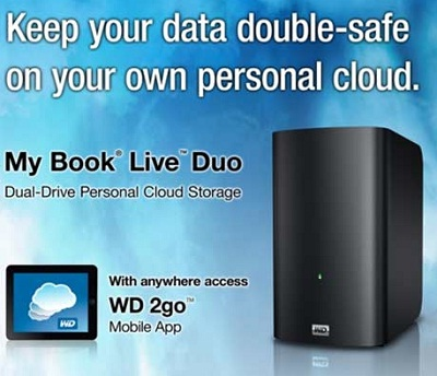 WD My Book Live Duo - Personal cloud storage launched in India