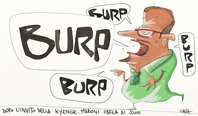 Gava gavavenezia satira vignette illustrazione caricatura fumetto ridere gavagnin marco illustratore disegno razzismo kiyenge lega merda bastardi banana bossi stronzo ministra