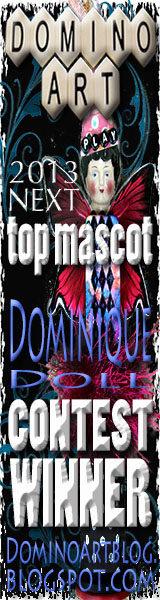 Winner of DominoART's Next Top Mascot - Dominique Doll Contest is