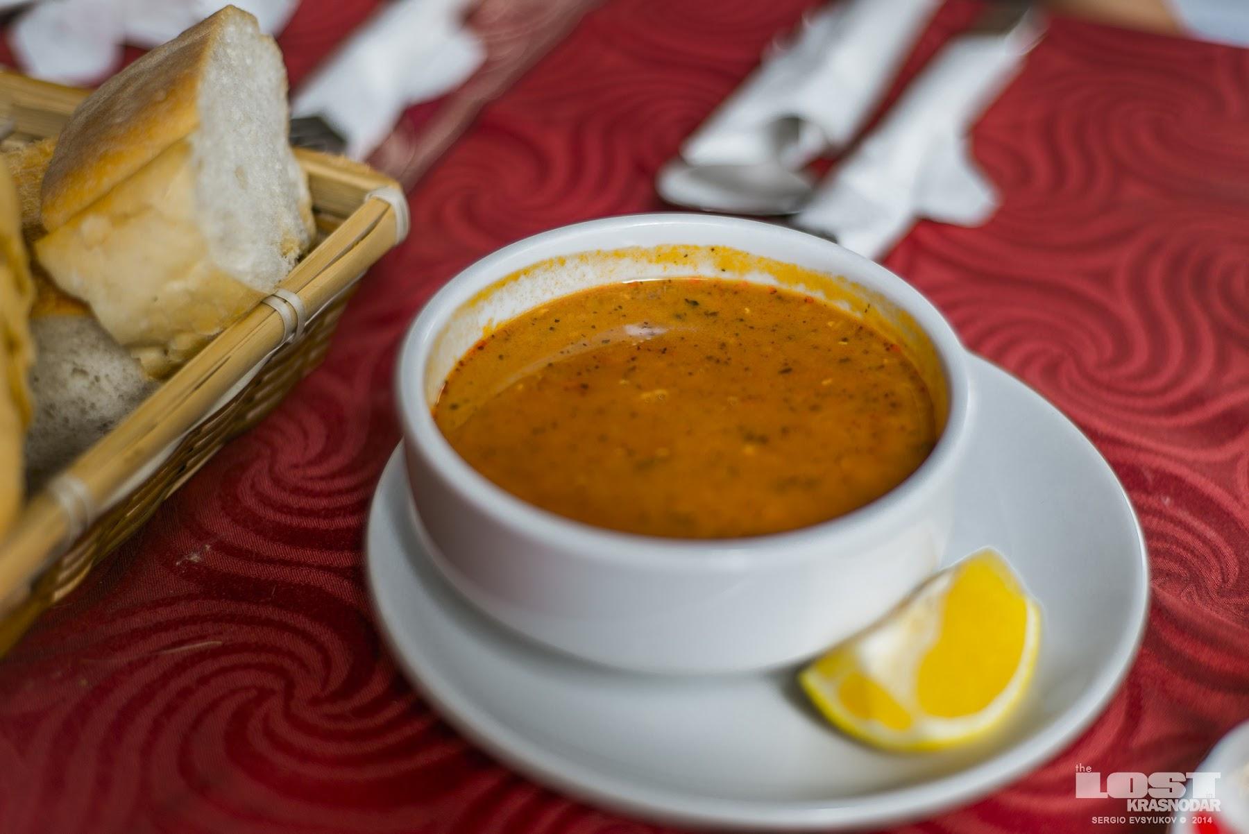 Суп из чечевицы в Стамбуле