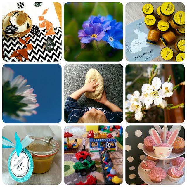 Alltagsperlen im April - Instacollage @frauvau.blogspot.de