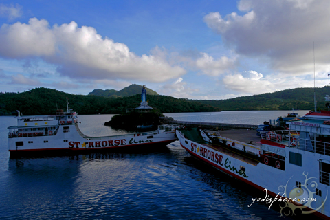 Statue of Our Biglang Awa at the Balanacan Port in Marinduque Philippines