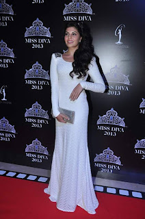 Malaika, Raveena, Jacqueline Grace the Miss Diva 2013 contest as Judge