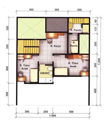 Contoh Denah Rumah Minimalis dan Tata Ruang Interior Lt 2