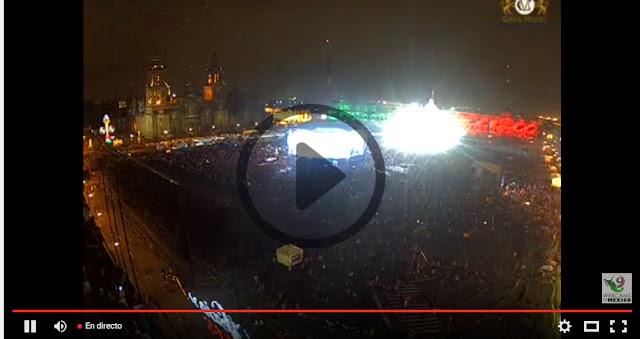 El Grito de Independencia en Vivo en el Zócalo (video)