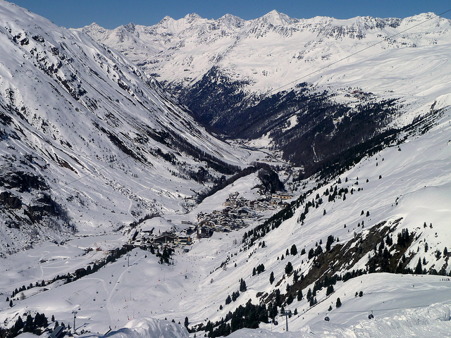 Ski resorts with a view in Obergurgl