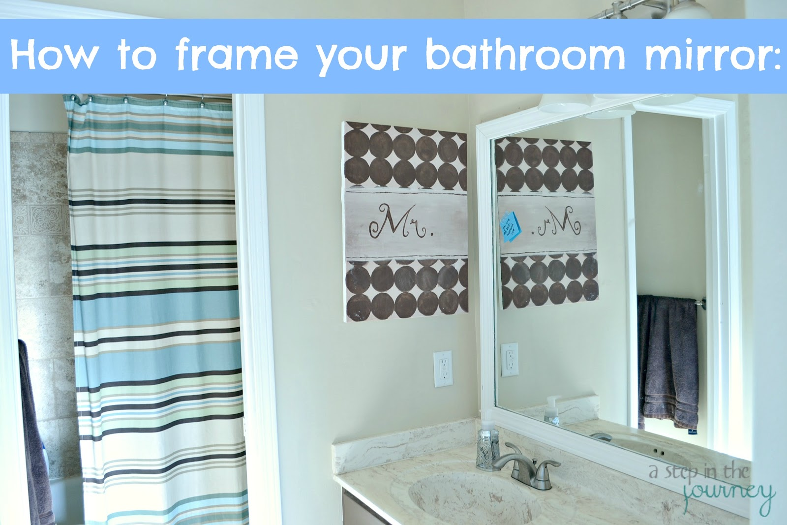 How to frame your bathroom mirror for How to frame mirror in bathroom