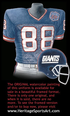 New York Giants 1990 uniform