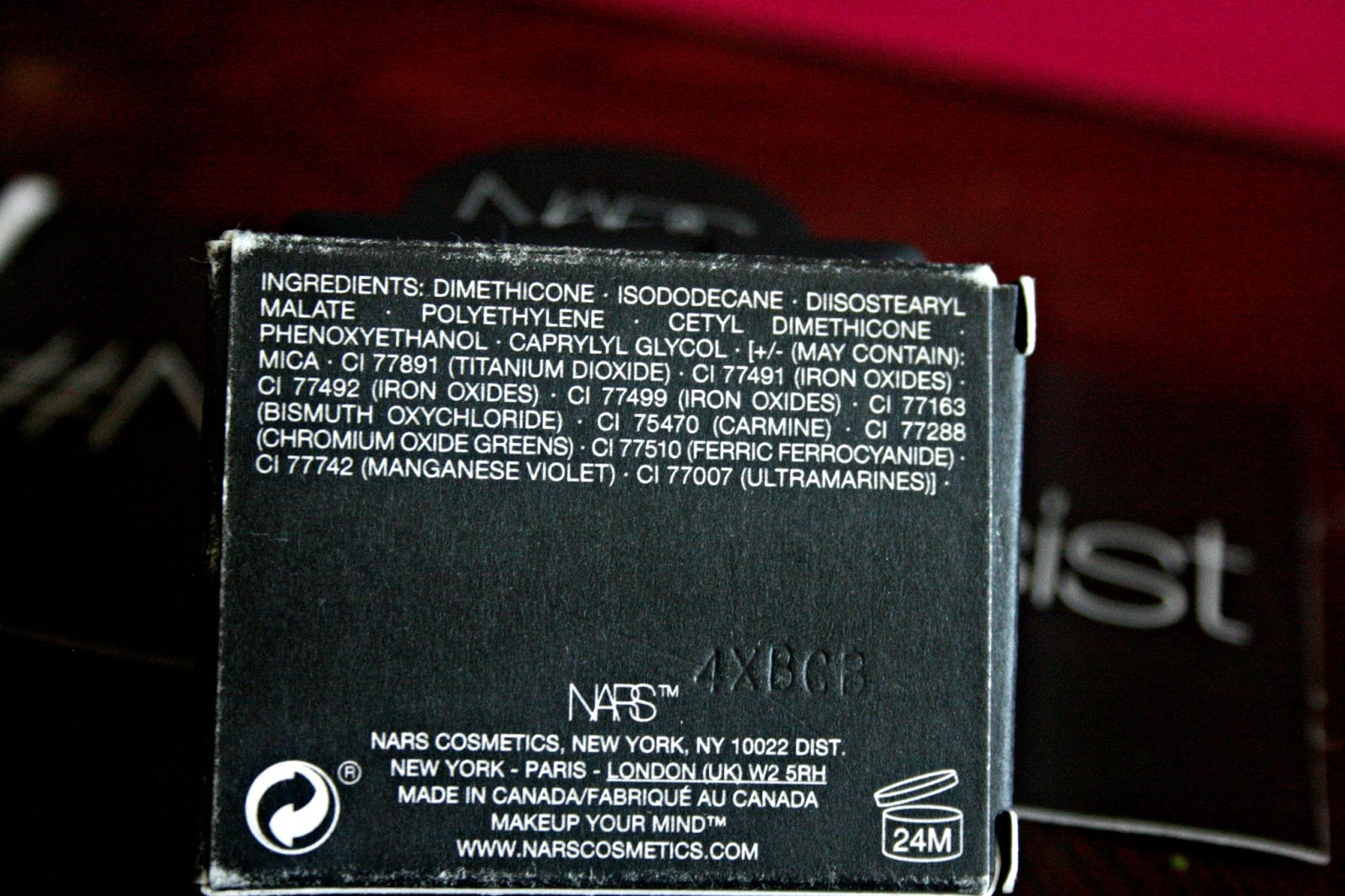 NARS Malacca Shimmer Eye Shadow Ingredients