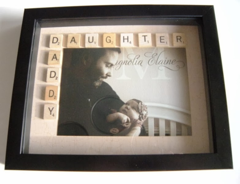 I Wanted To Make Something Special For My Husbands 35th Birthday After Browsing Around Pinterest Found The Cutest Idea A Scrabble Tile Shadow Box