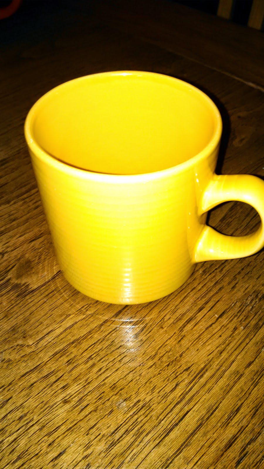 This coffee mug is too small- coffee gets cold fast