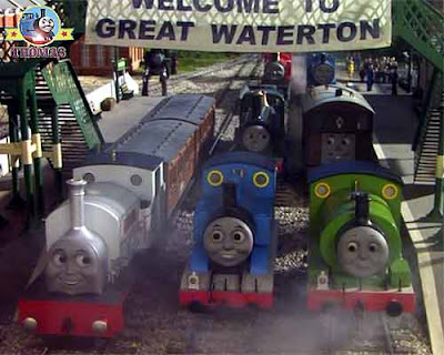 Great Discovery Toby Percy Stanley and Thomas the train old lost town of Great Waterton Sodor woods