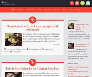 Sorbet Blogger Template
