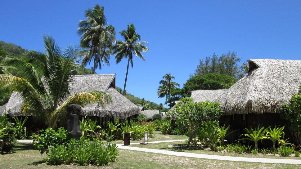 Jardin luxuriant du Sofitel Moorea Ia Ora Beach Resort
