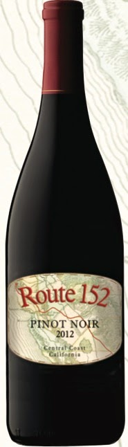 bottle of Route 152 Pinot Noir