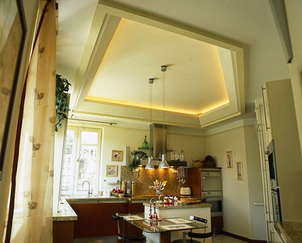 Suspended Ceiling Lights For Kitchen : Kitchen ceiling designs ideas and materials
