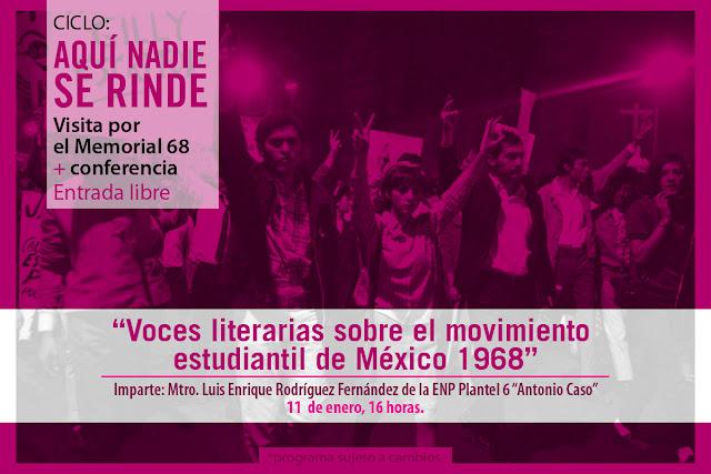 """Ciclo de conferencias """"Aquí nadie se rinde"""" en el Memorial 68 del CCU Tlatelolco"""
