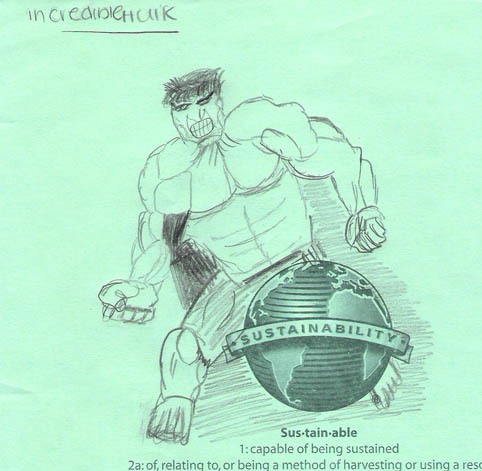 I Like The Sinewy Quality Of This Drawing. Of The Original Art I Received,  This Might Be My Favorite. Plus The Way The Hulk Is Looming Over The Globe  Is A ...
