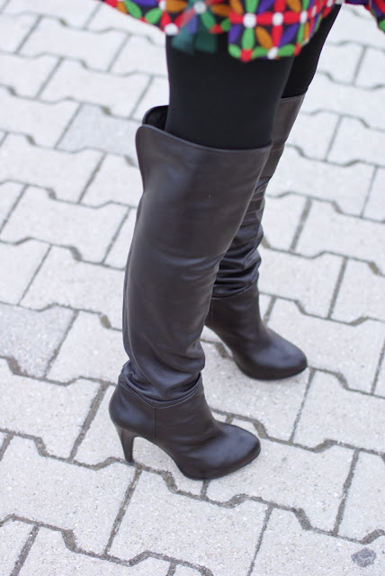 over the knee leather boots, cuissardes, Fashion and Cookies, fashion blogger
