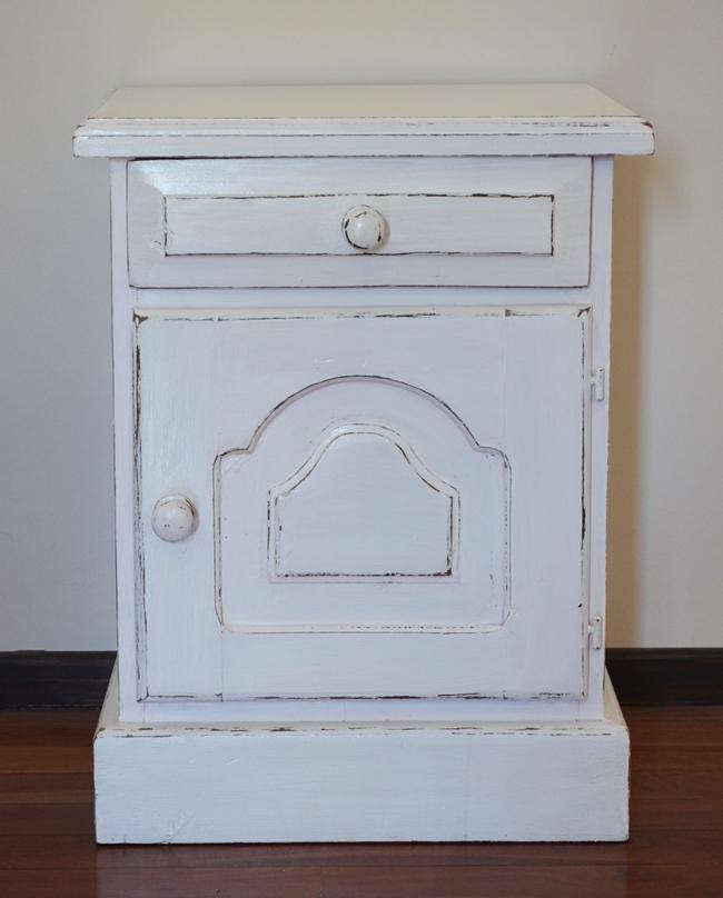 Antes y despu s blanco todo blanco vero palazzo - Muebles rusticos en blanco ...