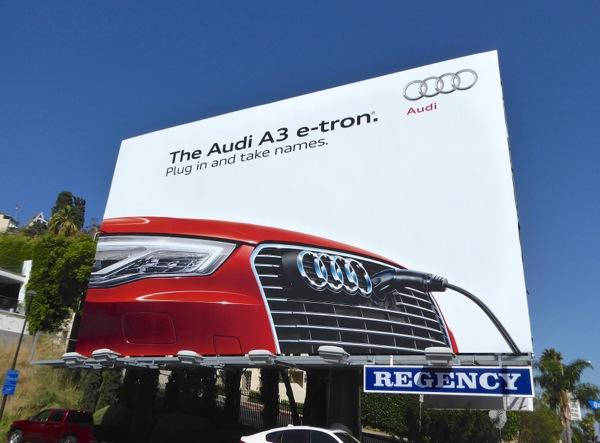 Audi A3 e-tron billboard