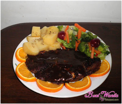 mutton shoulder lamb grill black pepper.