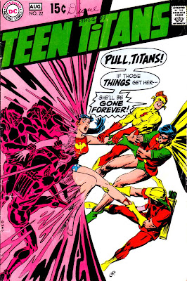 Teen Titans v1 #22 dc comic book cover art by Nick Cardy