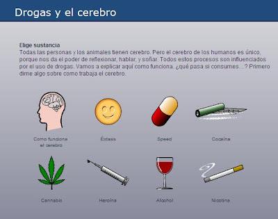 varias drogas y su efecto en el cerebro humano