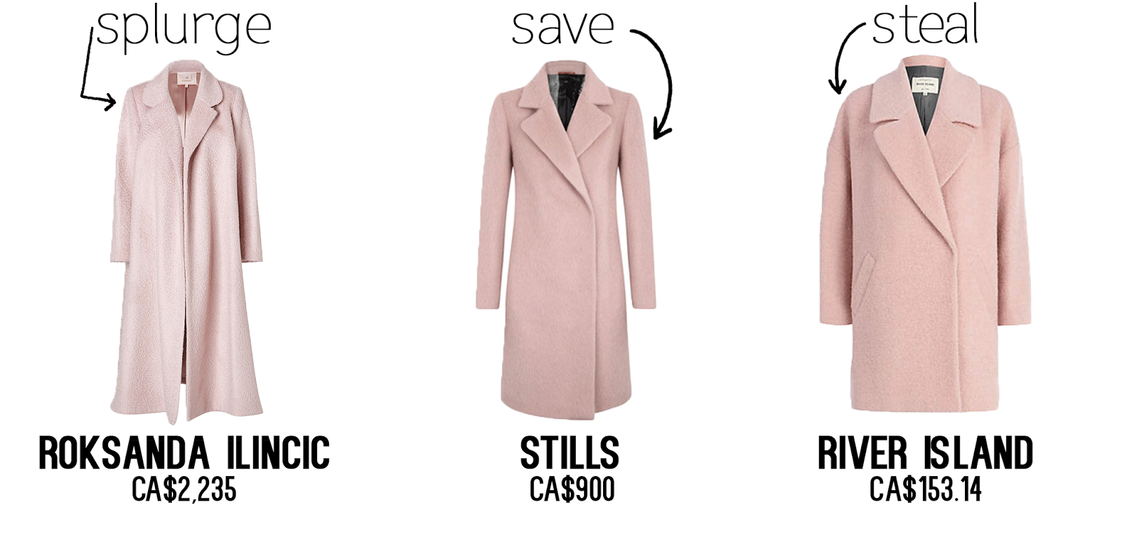 Ride or Die: Light Pink Wool Coat