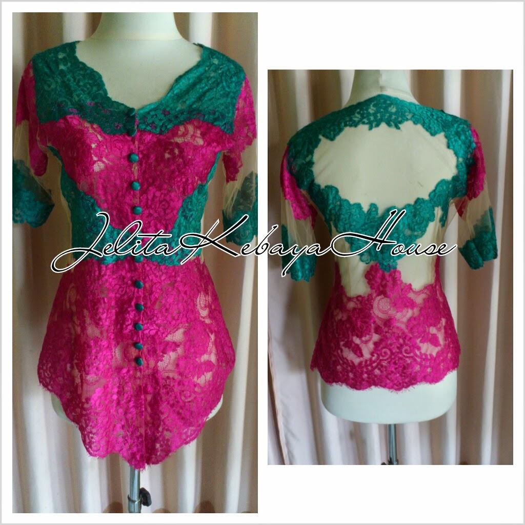 Foto Model Baju Kebaya 2 Warna