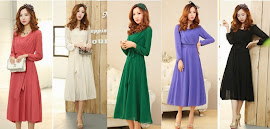 New Release 2014 Spring Long-Sleeved Chiffon Slim Midi Dress
