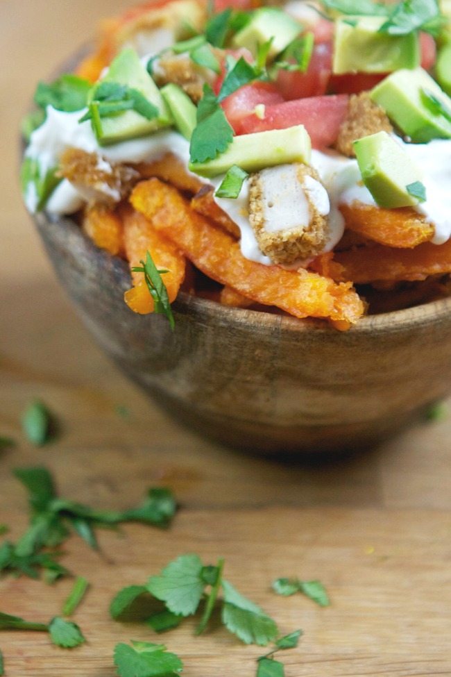 http://spaceshipsandlaserbeams.com/blog/party-food/loaded-chicken-sweet-potato-fries