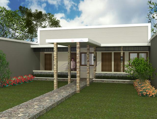 Desain Eksterior Renovasi Rumah Bapak Topo Karanganyar