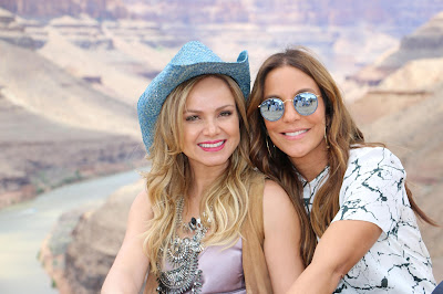 Eliana e Ivete no Grand Canyon (Divulgação/SBT)