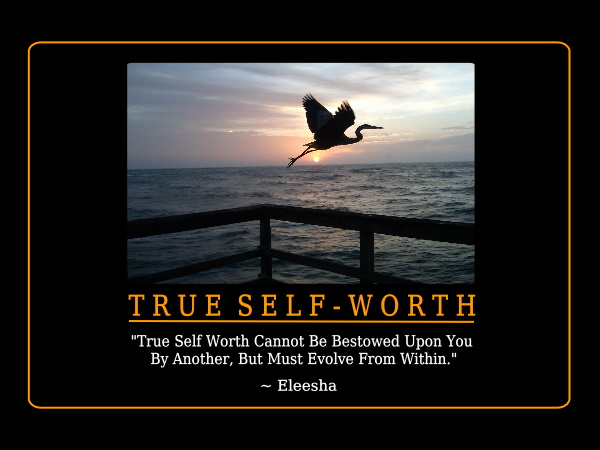 how to best develop self worth