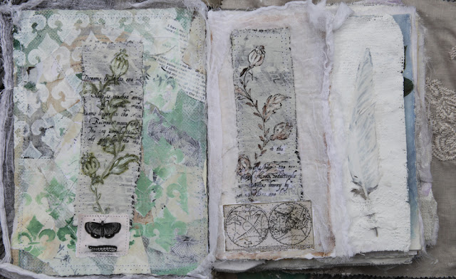 mixed media art journalling
