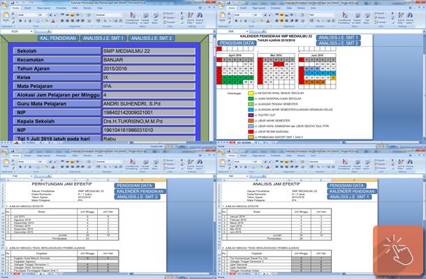 Aplikasi Kalender Pendidikan dan Perhitungan Jam Efektif dengan Microsoft Excel