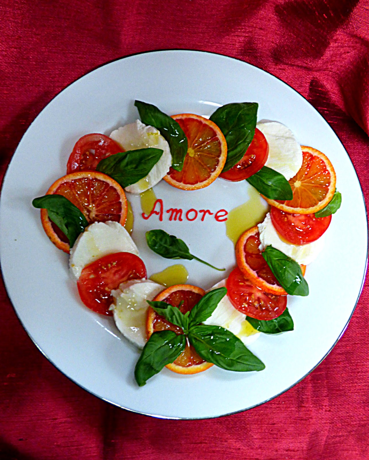 Italian salad, blood orange recipe