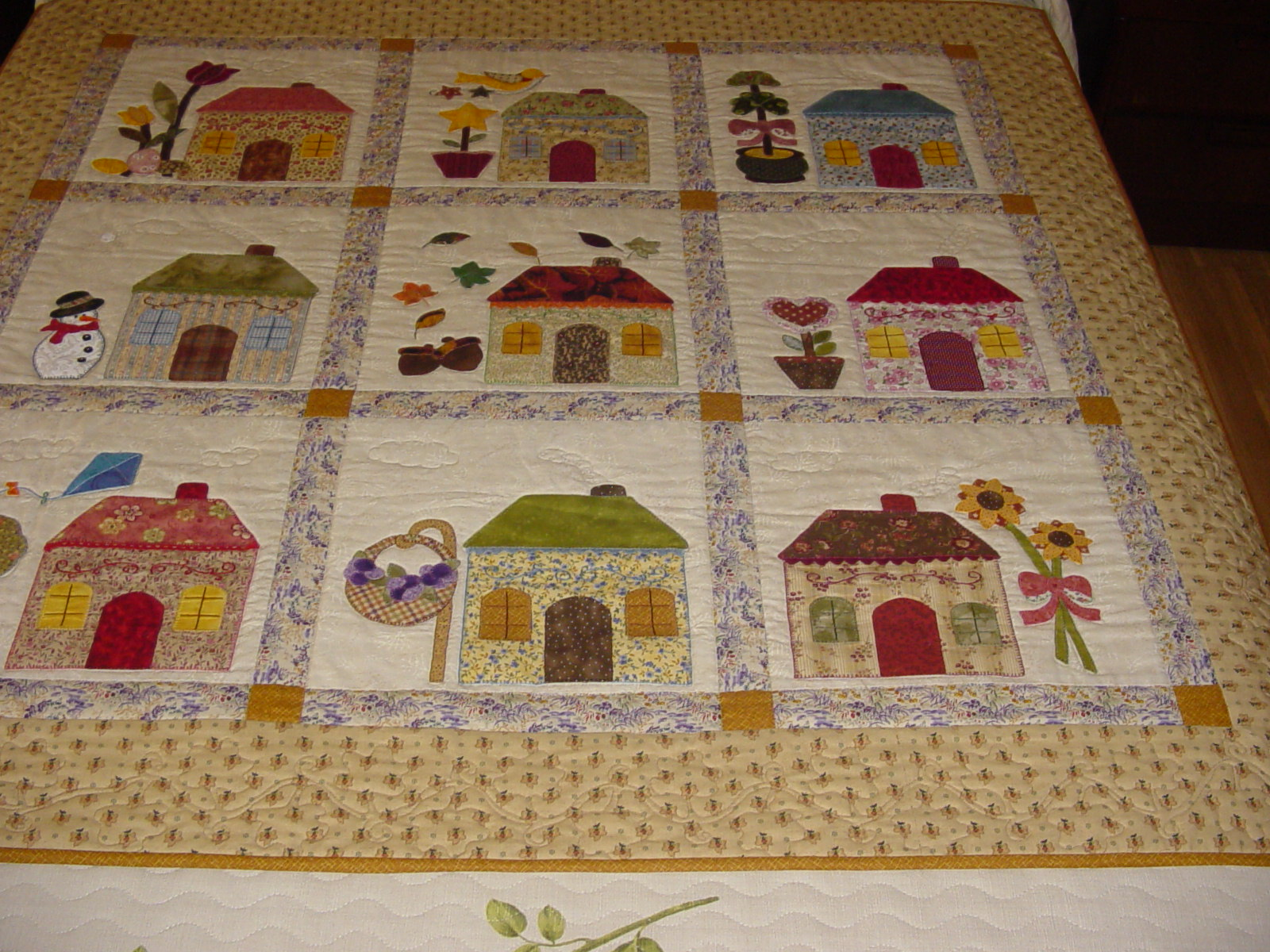 Trozitoatrozito colcha de casas - Casas de patchwork ...
